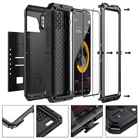 Heavy Duty Shockproof Armor Case for iPhones with Glass Film  Screen Protection