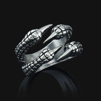 Trendy 13mm Zinc Alloy Party Cocktail Ring J027