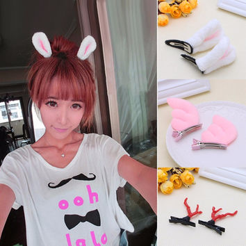 XMAS Women Girl Kid Christmas Deer Antlers Costume Ear Party Hair Head Band Prop