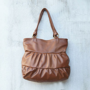 Truffle in Camel Brown/ Brown Leather Bag / Leather Shoulder Bag / Leather Tote /Slouch Bag / Large Tote Bag /Women's Handbag/ Handmade Bag
