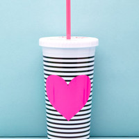 ban.do Stripe Heart Graphic Tumbler