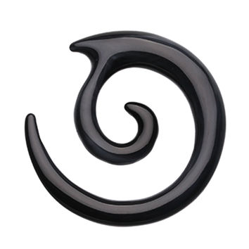 Twirl Fang Spiral Acrylic Ear Gauge Spiral Hanging Taper