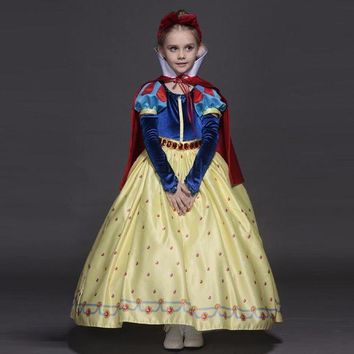 ESB4F New High quality Kids princess sofia dress for baby girls snow White Cosplay Costume children christmas party tutu dresses