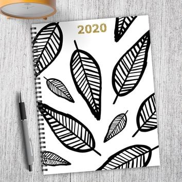 Sketch Leaves Large Weekly/Monthly Planner