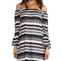 VAVA by Joy Han Sally Off the Shoulder Dress in Gray