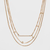 SUGARFIX by BaubleBar Gold Layered Necklace - Gold
