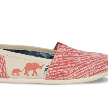 The TOMS Animal Initiative Elephant Red Women's Classic