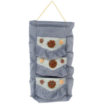 [Plaid & Lace] Blue/Wall Hanging/Wall Organizers /Baskets