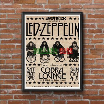 Led Zeppelin School Of Rock Photo Poster