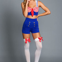 Retro Sailor Girl Costume by Leg Avenue - LoveCulture