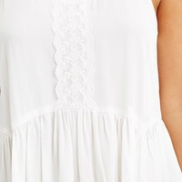 Lace-Paneled Cami