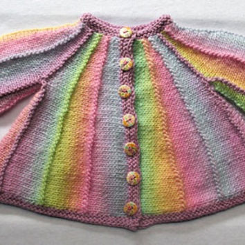 Kawaii Cardi (for babies and toddlers) - KNITTING PATTERN - downloadable file