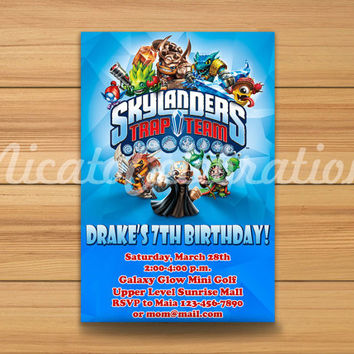 Skylanders Potrait Design Invitaion - Digital File