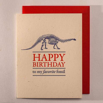 Favorite Fossil Birthday Card