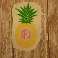 Pinnaple monogram decal