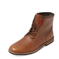 Original Penguin Men's Jerry Jeff Leather Boot - Dark Brown -
