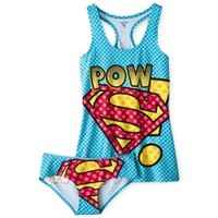 Juniors Superman Tank and Panty Set - Blue
