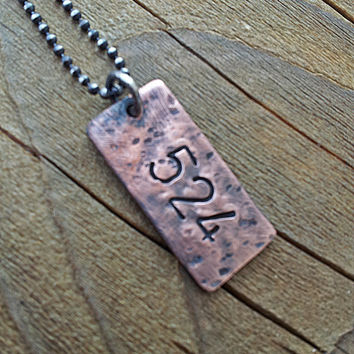 Father's Day Jewelry for Dad Hand Stamped Necklace For Dad, Son, Grandson, New Father, Brother