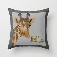 Hello Throw Pillow by ArtLovePassion
