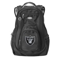 Oakland Raiders 17 1/2-in. Laptop Backpack (Black)