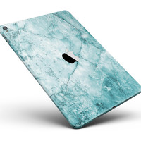 """Cracked Turquise Marble Surface Full Body Skin for the iPad Pro (12.9"""" or 9.7"""" available)"""
