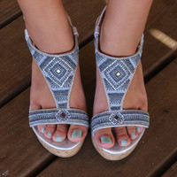 NOT RATED Marant Silver Beaded Wedges