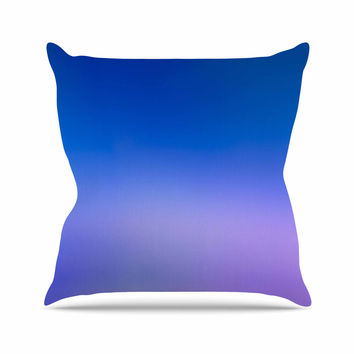 "Malia Shields ""Aura Series #5"" Blue Purple Outdoor Throw Pillow"