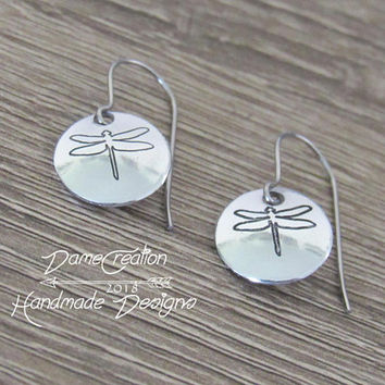 Silver Dragonfly Earrings, Dragonfly Jewelry, Dragonfly Jewelry Sterling Silver, Dragonfly Earrings Silver Jewelry, Dragonfly Girl Gifts