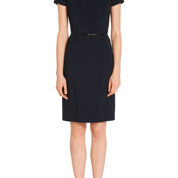 'Dasoni' | Stretch Virgin Wool Blend Sheath Dress by BOSS