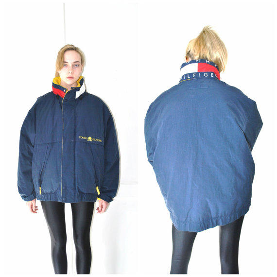 TOMMY HILFIGER puffer coat vintage 80s from onefortynine ...