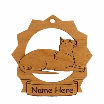 Oriental Shorthair Cat Wood Ornament 087275 Personalized With Your Cat's Name