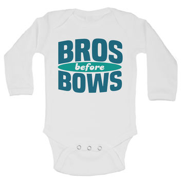 Bros Before Bows - Funny Kids Onesuit
