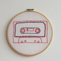 Hand Embroidery Hoop - Mixtape Master