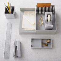 Color Pop Office Accessories - Light Gray