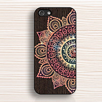 wood grain flower, IPhone 4s case,flower totem,IPhone 4 case,flower  5s case,personalized case,IPhone 5c case,creative,IPhone 5 case,AN269