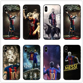 Lionel Messi Ronaldo Neymar Soccer Football Cover Star TPU  Soft Silicon Phone Case Cover For iphone X 6 6S 7 8 Plus 5S SE Coque