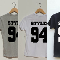 Harry Styles 94 Shirt One Direction shirt Back Number 1D fangirl Jersey teens clothing also for the rest of the band Payne 93 Etc