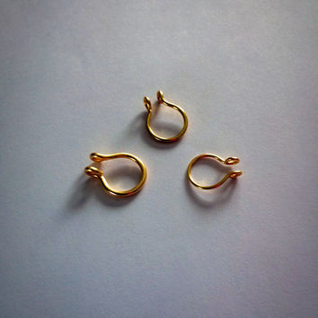 Try Me Septums Set of 3 Different Gauge Rings / Wire Nose Ring / Fake Body Jewelry / 20 gauge 18 gauge 16 gauge