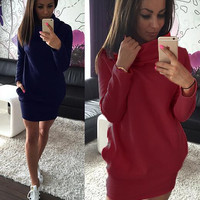 Womens Casual Long Sleeve Dress