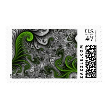 Fantasy World Abstract Fractal Art Postage