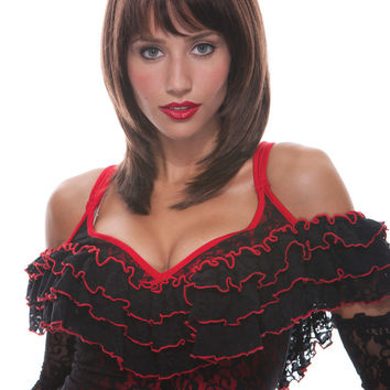 costume accessory: jasmine wig brown french kiss