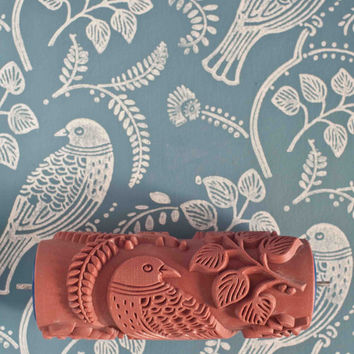 Tuvi patterned paint roller from The Painted House