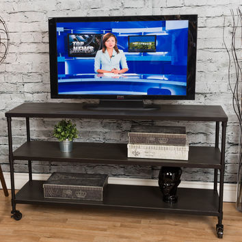 Michael Anthony 3-Shelf Media Console With Caster Wheels