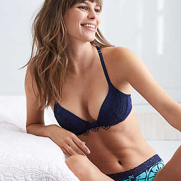 Brooke Racerback Pushup Bra , Deep Burgundy