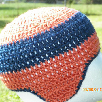 Free Shipping in the U.S.A - Play Ball - Toddler Child Crochet Beanie Hat - Denver Broncos Chicago Bears - Bad Hair Day Beanie - Unisex Hat