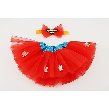 Wonder Woman Baby Tutu & Headband Set - Spencer's