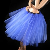 Custom Color tutu skirt Romance knee length extra puffy petticoat Adult -- Small | SistersOftheMoon - Clothing on ArtFire