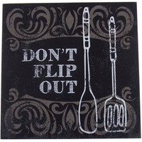 Prinz Don't Flip Out Plaque Home Decor Kitchen Wall Hanging Saying Sign Spatula