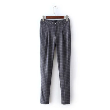 Pencil Pants Summer Women's Fashion Pants Korean High Rise Slim Casual Skinny Pants [4920286660]