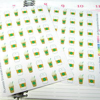 Starbucks Coffee Tracker Planner Sticker for Erin Condren Life Planner (ECLP) Reminder Sticker Track Fuel Cost